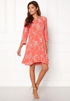 VILA Mimira 3/4 Sleeve Dress Spiced Coral Bubbleroom.dk