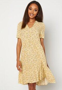 VILA Mina Tullan S/S Dress Sunshine Bubbleroom.dk