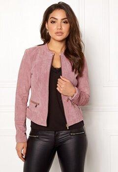 VILA Miss Suede Jacket Ash Rose Bubbleroom.dk