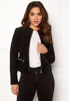VILA Miss Suede Jacket Black Bubbleroom.dk