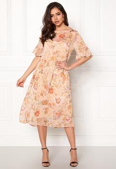 VILA Mouna S/S Medi Dress Peach Blush Bubbleroom.dk
