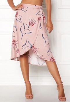 VILA Nandi Wrap Midi Skirt Adobe Rose Bubbleroom.dk