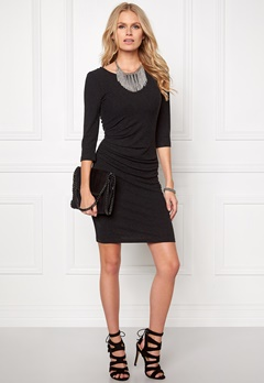 VILA Nimas Detail Dress Black Bubbleroom.dk