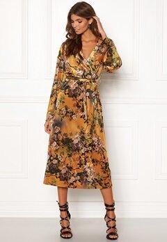 VILA Nisty L/S Dress Cathay Spice Bubbleroom.dk