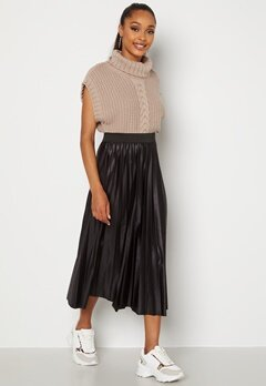 VILA Nitban Skirt Black Bubbleroom.dk
