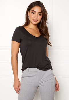 VILA Noel S/S T-shirt Black Bubbleroom.dk