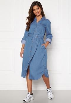 VILA Oakes Midi Shirt Dress Medium Blue Denim Bubbleroom.dk