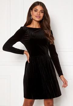 VILA Oelle Boatneck 3/4 Sleeve Dress Black Bubbleroom.dk