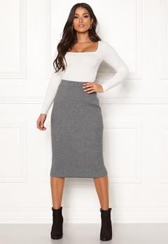 VILA Oliv Knit Pencil Skirt Medium Grey Melange Bubbleroom.dk