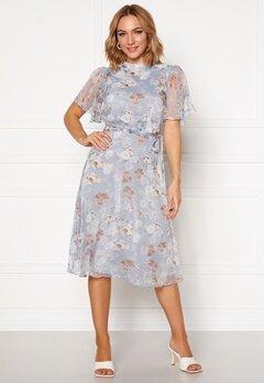 VILA Parisa S/S Midi Dress Ashley Blue Bubbleroom.dk