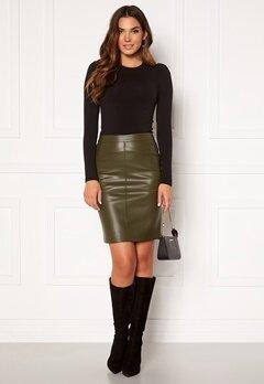 VILA Pen New Coated Skirt Forest Night Bubbleroom.dk