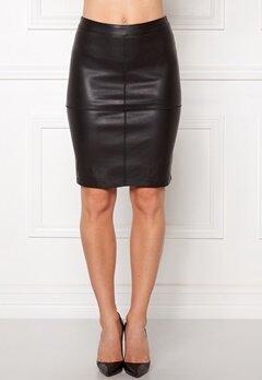 VILA Pen New Skirt Black Bubbleroom.dk