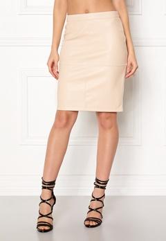 VILA Pen New Skirt Sandshell Bubbleroom.dk