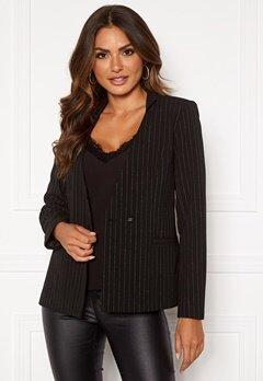 VILA Pinia L/S Blazer Black Stripes Silver Bubbleroom.dk