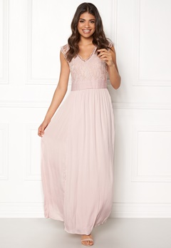 VILA Ponny Maxi Dress Peach Whip Bubbleroom.dk