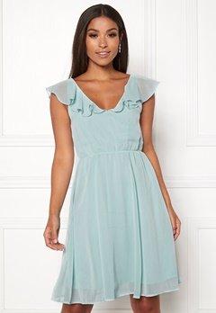 VILA Rannsil S/L Short Dress Blue Haze Bubbleroom.dk