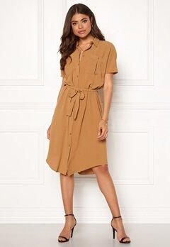 VILA Rasha S/S Shirt Dress Tabacco Brown Bubbleroom.dk