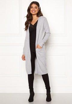 VILA Ril Long Knit Cardigan Light Grey Melange Bubbleroom.dk