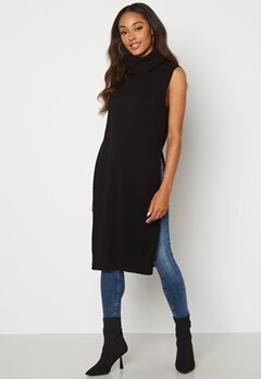 VILA Ril Long S/L Knit Vest Black bubbleroom.dk