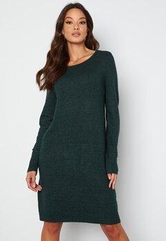 VILA Ril L/S Knit Dress Darkest Spruce bubbleroom.dk