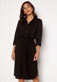 VILA Safina Midi L/S Dress Black Bubbleroom.dk