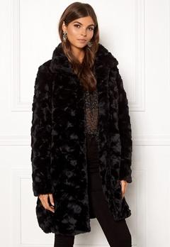 VILA Seria Coat Black Bubbleroom.dk