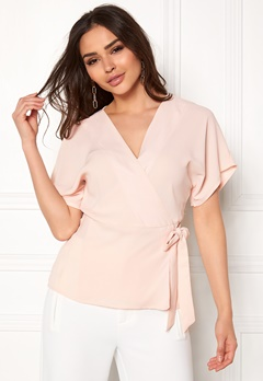 VILA Shadina S/S Cover Up Peach Blush Bubbleroom.dk