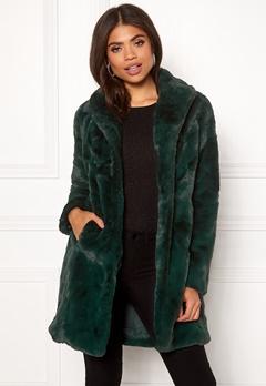 VILA Softa Faux Fur Coat Pine Grove Bubbleroom.dk