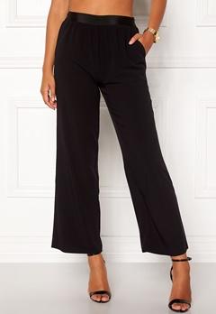VILA Split Flared Pants Black Bubbleroom.dk