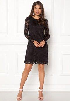 VILA Stasia Lace A-Shape Dress Black Bubbleroom.dk