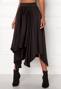 VILA Sulla Asymetric Skirt Black Bubbleroom.dk