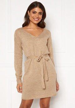 VILA Suril L/S V-Neck Short Knit Dress Nomad Bubbleroom.dk
