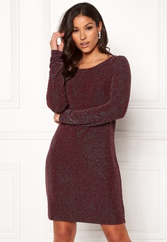 VILA Tinny Luosquare New Dress Winetasting Bubbleroom.dk