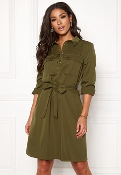 VILA Trooper L/S Dress Dark Olive Bubbleroom.dk