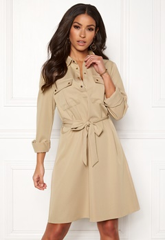 3c069544acb2 VILA Trooper L S Dress Soft Camel Bubbleroom.dk