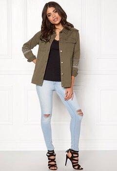 VILA Viabell jacket gv Ivy Green Bubbleroom.dk