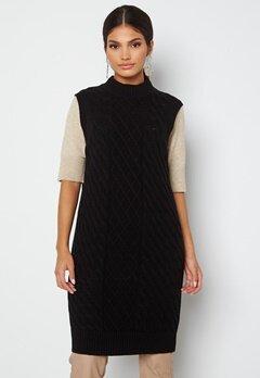 VILA Zuri Cable S/L Knit Vest Dress Black bubbleroom.dk