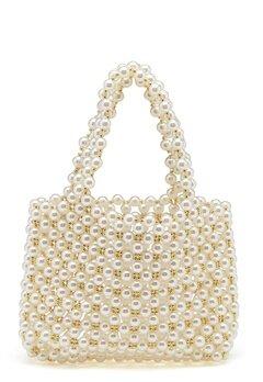 WOS Britney Pearl Bag Vit Bubbleroom.dk