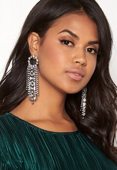 WOS Curtain Earrings Silver Bubbleroom.dk