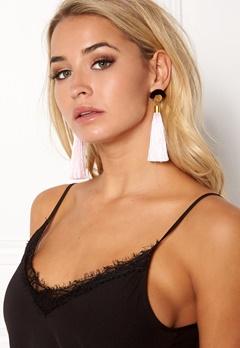 WOS Gloria Tassels Earrings Rosa/Sort Bubbleroom.dk