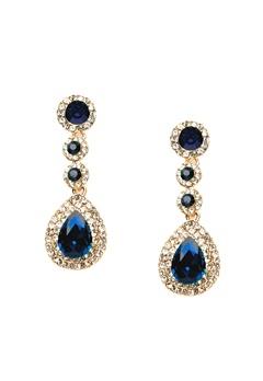 WOS Queen Bling Earrings Blå Bubbleroom.dk