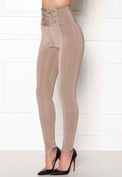 WOW COUTURE Adora Bandage Pants Almond Bubbleroom.dk
