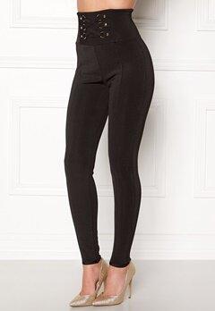 WOW COUTURE Adora Bandage Pants Black Bubbleroom.dk