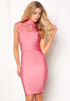 WOW COUTURE Caged Cap Sleeve Shaping Salmon Bubbleroom.dk