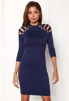 WOW COUTURE Dillon Sweater Dress Navy Bubbleroom.dk