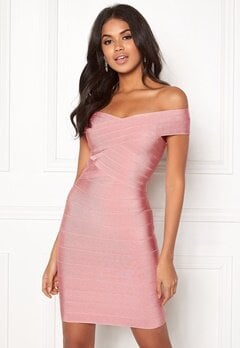 WOW COUTURE Janiyah Bandage Dress Dusty Pink Bubbleroom.dk