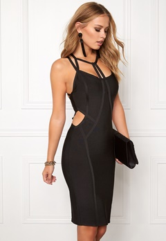 WOW COUTURE Strappy Bandage Shaping Black Bubbleroom.dk