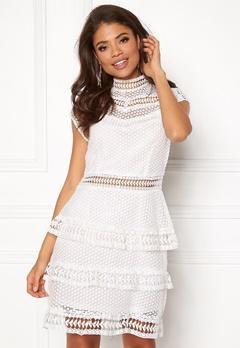 Y.A.S Alberte Capsleeve Lace Dress Star White Bubbleroom.dk