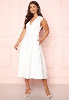 Y.A.S Alice SL Midi Dress Star White Bubbleroom.dk