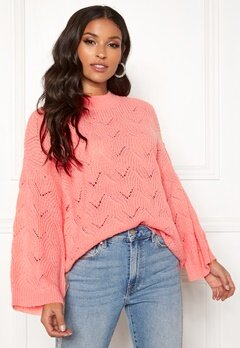 Y.A.S Alma Knit Pullover Quartz Pink Bubbleroom.dk